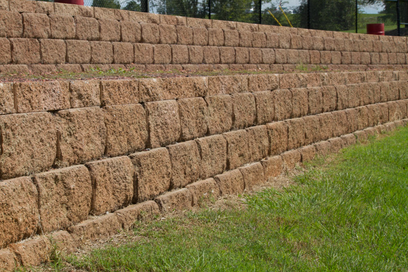Retaining walls provide overflow seating for Landscaping rocks tuscaloosa al