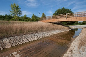 Articulated Concrete Blocks Control the Effects of Surging Stormwater