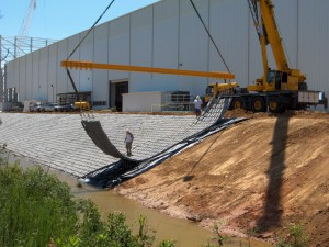 Articulated Concrete Mats Protect Shipbuilding Operation
